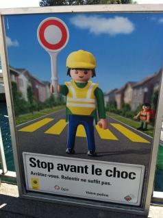 Campagne de prévention routière, dans la rue