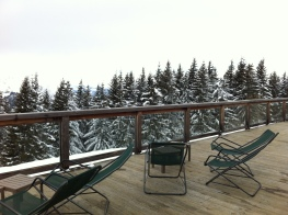 Restaurant d'altitude, terrasse du Super Megève