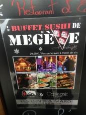 Sushis à volonté au Casino de Megève