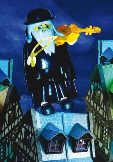 Toile à la manière de Marc Chagall Par Richard Unglik