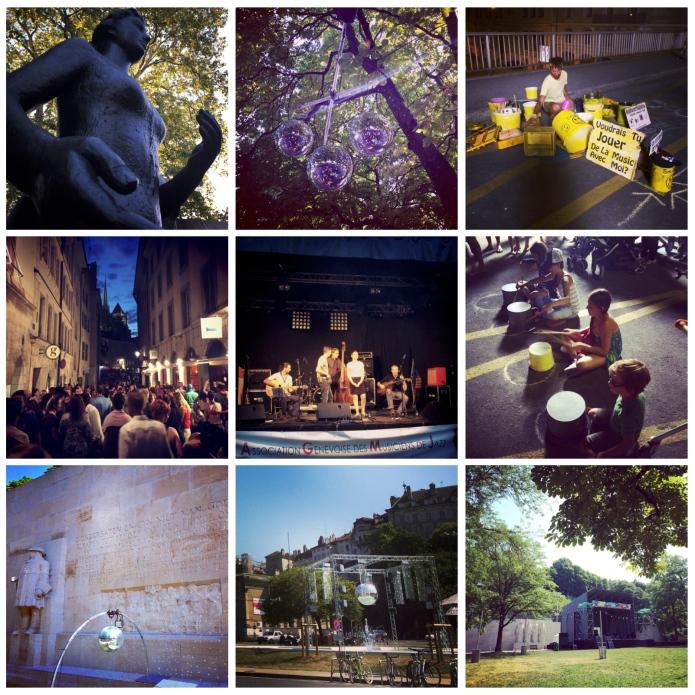 Fête de la Musique, Place de Neuve, Parc des Bastions, Vieille Ville et Parc du Pin, Genève 2014