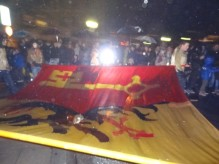 Armoiries de Genève sur le drapeau