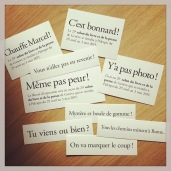 Cartes postales et marque-pages