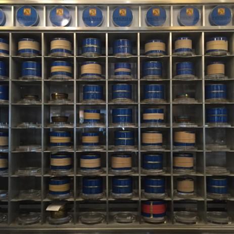 Un détail de la cave de maturation à caviar, place de la Fusterie.